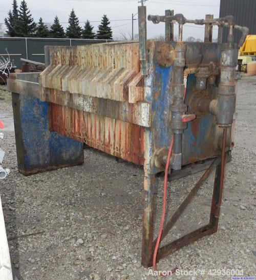 """Used- Filter Press, 32"""" x 32"""". (21) Polypropylene plates, approximately 142.2 square feet filter area, 5.93 cubic feet cake ..."""